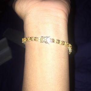 Zales Citrine yellow bracelet